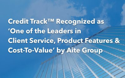 Credit Track™ Recognized as One of the Leaders in Client Service, Product Features and Cost-To-Value by Aite Group